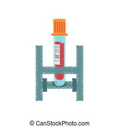 drawing test tube with blood laboratory