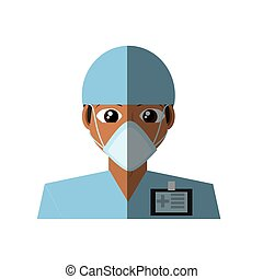 doctor mask medical surgeon id card