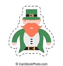 cartoon st patricks day leprechaun traditional icon