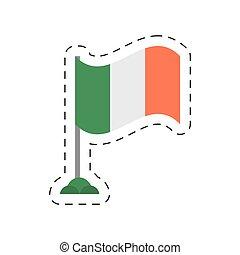 cartoon irish flag st patricks day vector illustration eps...