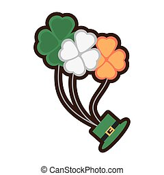 bunch clover hat fly st patricks day