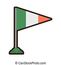 st patricks day irish flag celebration vector illustration...