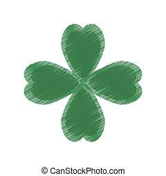 drawing st patricks day clover symbol vector illustration...