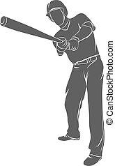 Baseball player ball
