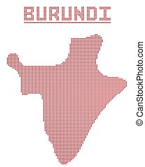 Burundi Africa Dot Map - A dot map of Burundi Africa...