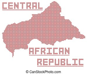 Central African Republic Dot Map - A dot map of the central...
