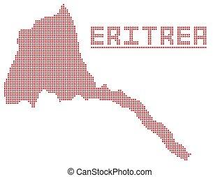 Eritrea Africa Dot Map - A dot map of Eritrea Africa...