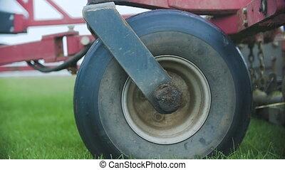 Farm Fetilizer Crop In The Lawn Field - Farm Fetilizer Crop...