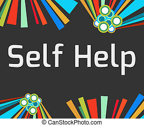Self Help Dark Colorful Elements - Self Help text written...