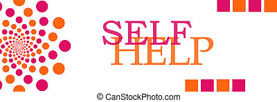 Self Help Pink Orange Dots Horizontal - Self help text...
