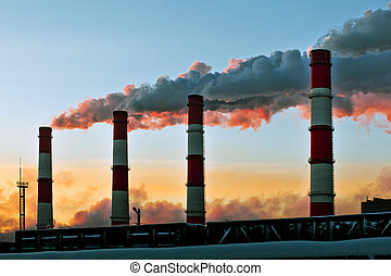 Air pollution factory