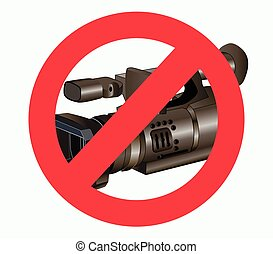 No photo video - vector illustration of a ban on video and...
