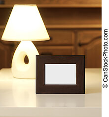 picture frame with lampshade