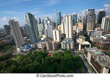 Makati City Skyline in Manila, Philippines.