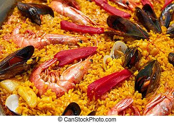 VALENCIA, mariscos, receta,  paella, españa