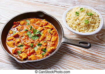 Chicken curry indian recipe basmati rice - Chicken curry...