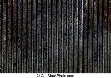 Cast iron grill black steel texture lines pattern