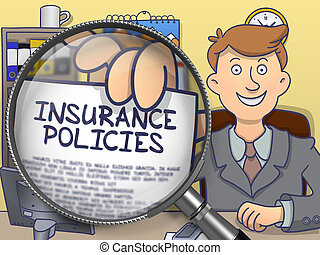 Insurance Policies through Lens. Doodle Style. - Insurance...
