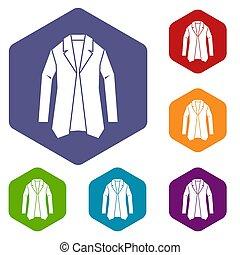 Jacket icons set