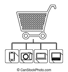 buy online icon stock image, vector illustration design