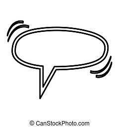 chat bubbles icon stock image, vector illustration design