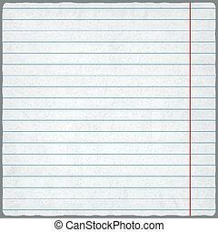 lined paper. blank design sheet. vector illustration - eps...
