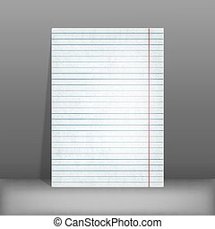 lined paper. blank design sheet A4. vector illustration -...
