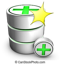 Creation of a new database - Icon symbolizing the creation...