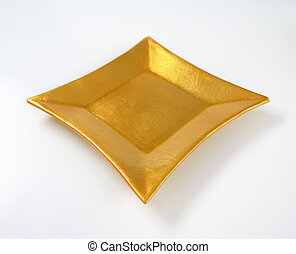square gold plate