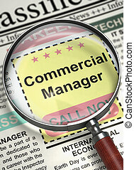 Commercial Manager Hiring Now. 3D.