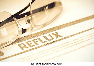 concept, Illustration, Monde Médical, fond, reflux, rouges,...