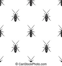Cockroach icon in black style isolated on white background....