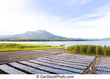 Mount and Lake Batur, Bali, Indonesia - Image of Mount Batur...