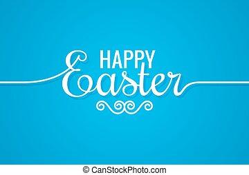 Easter Line Vintage Lettering Design Background 10 eps