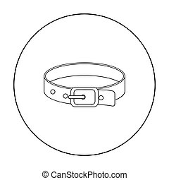Pet collar icon of vector illustration for web and mobile