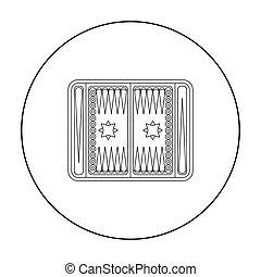 Backgammon icon in pattern
