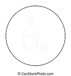 Liqueur icon in outline style isolated on white background. Alcohol symbol stock vector illustration.