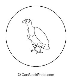 Vulture icon in outline style isolated on white background. Bird symbol stock vector illustration.