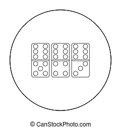 Domino icon in pattern