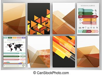 Creative beige backgrounds and abstract concept vector icons