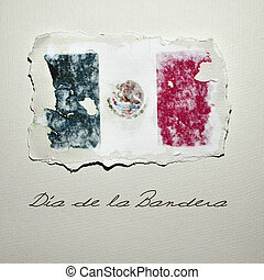 Dia de la Bandera, Flag Day in Mexico - the flag of Mexico...