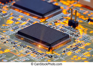 Electronic chip and standard inscriptions of resistors and...