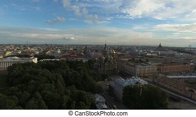 Church of the Savior on blood in Saint-Petersburg aerial