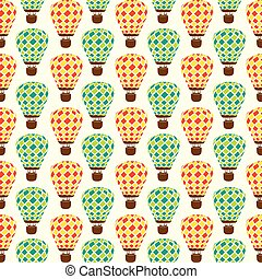 hot air balloon pattern design