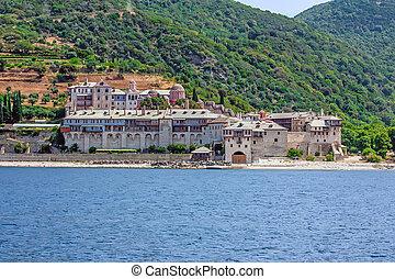 Xenophontos monastery on Mount Athos, Greece - Xenophontos...
