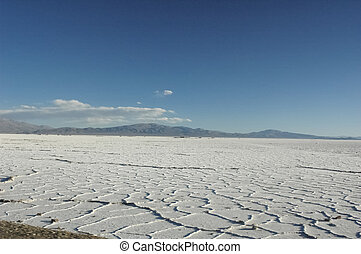 The Salinas Grandes amazing landscape - View of the Salinas...