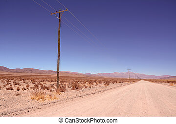 Ruta ex 40 in Jujuy province from Salinas Grandes to San...