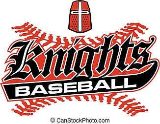 knights baseball team design with stitches and helmet for...