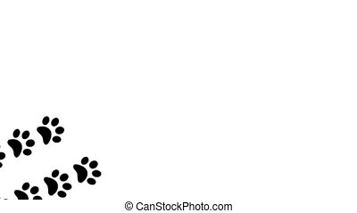 Paw prints animal feet foot footprints pawprints dog cat...