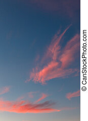 Beautiful pink sunset clouds - Beautiful red sunset clouds...